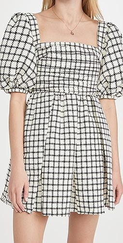 Self Portrait - Monochrome Check Mini Dress