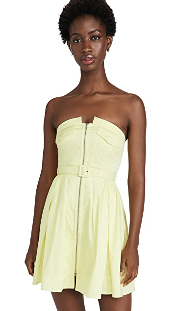 Self Portrait Strapless Cotton Mini Dress