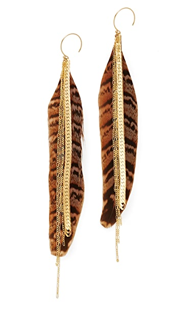 serefina Large Feather Earrings