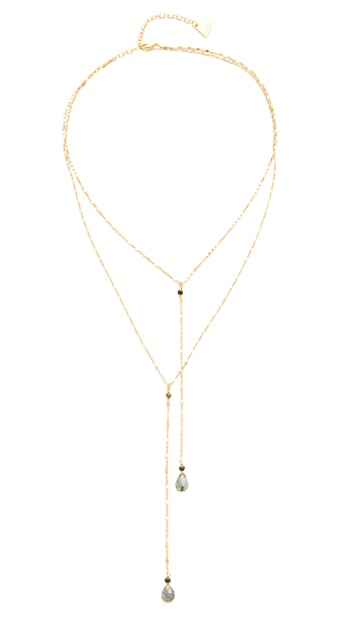 serefina Delicate Double Y Necklace