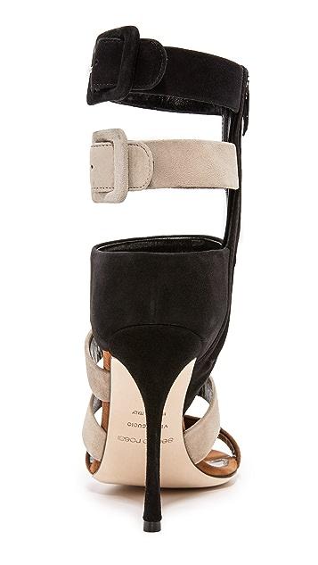 Sergio Rossi Zebra Sandals