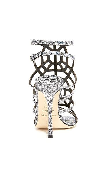 Sergio Rossi Puzzle Strappy Sandals