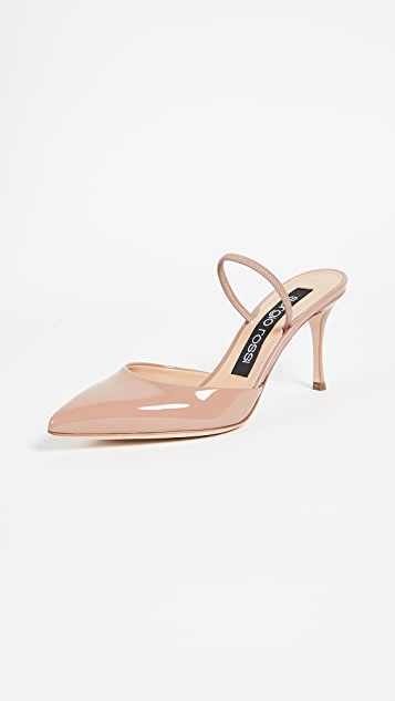 Sergio Rossi Sling pumps calfskin Finished 5NgJ8O6r