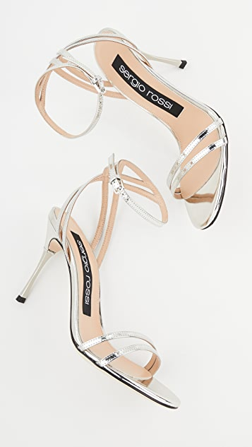 Sergio Rossi Godiva Steel 凉鞋