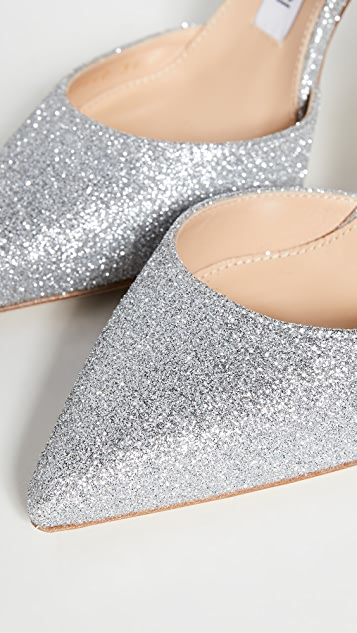 Sergio Rossi 90mm Godiva Bridal 闪光色亮片穆勒鞋