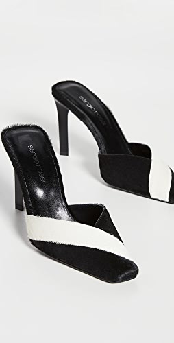 Sergio Rossi - Colorblock Mule Pumps