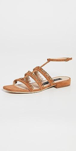 Sergio Rossi - Fringe Flat Sandals