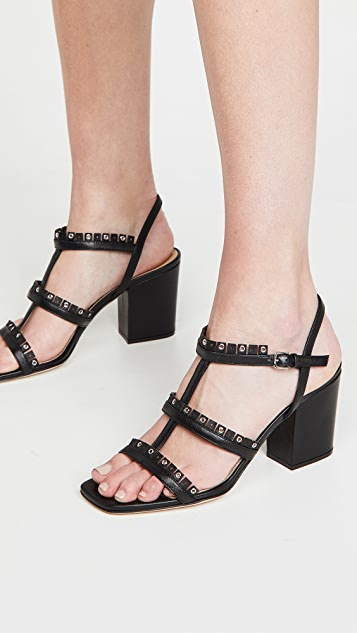 Sergio Rossi Fringe Heel Sandals