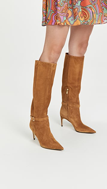 Sergio Rossi Suede 75mm Boots