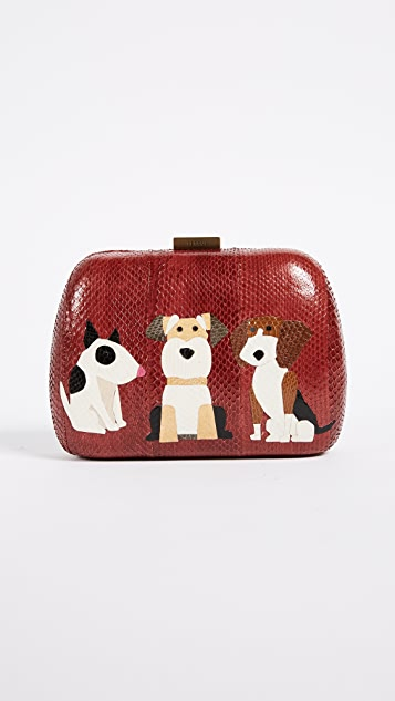 Serpui Marie Lolita Dog Snake Clutch