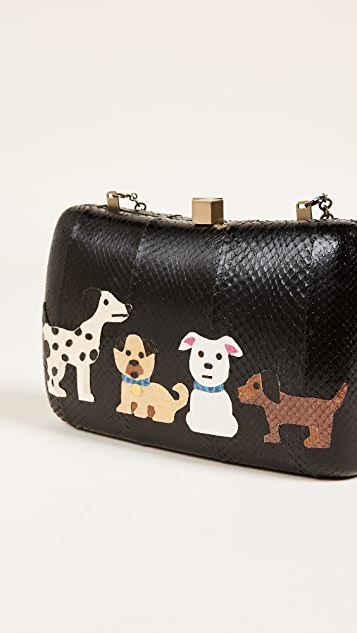 Serpui Marie Raquel Dog Snake Clutch
