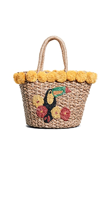 Serpui Marie Fany Toucan Straw Basket