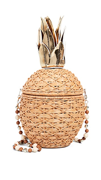 Serpui Marie Плетеный клатч Pineapple