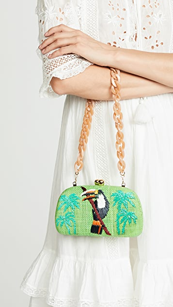 Serpui Marie Mia Toucan Clutch