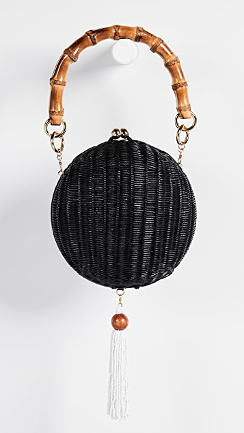 Serpui Marie New Lizzy Wicker Circle Bag