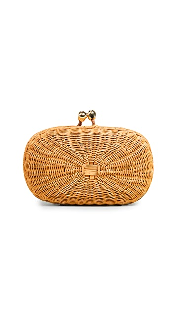 Serpui Marie Olivine Wicker Bag