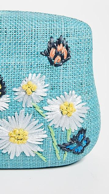 Serpui Marie Blair Daisy Embroidered Minaudiere