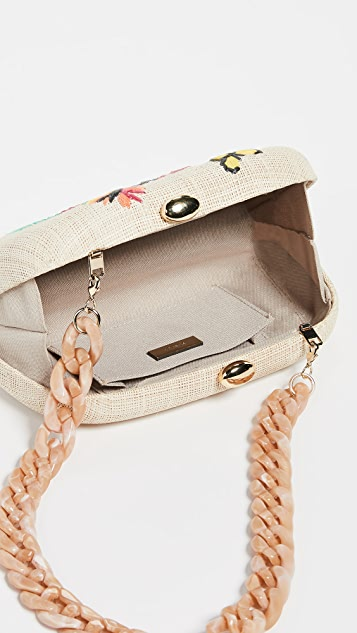 Serpui Marie Mia Toucan Embroidered Minaudiere