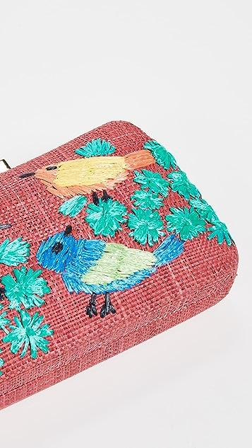 Serpui Marie Marissa 鸟儿刺绣化妆品盒