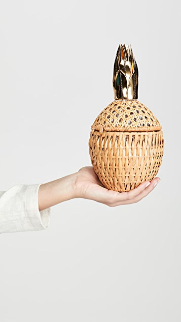 Serpui Marie Клатч c апликацией в виде ананаса