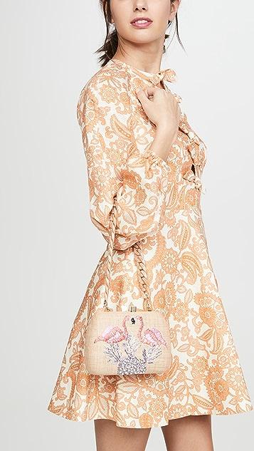 Serpui Marie Lolita Flamingo Clutch