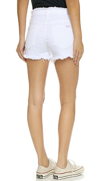 7 For All Mankind Raw Edge Cut Off Shorts
