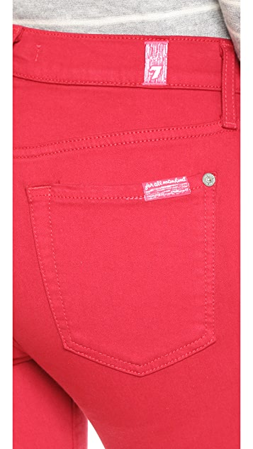 7 For All Mankind The Ankle Skinny Jeans with Raw Hem