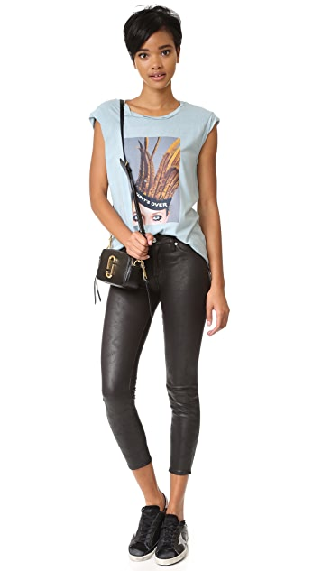 7 For All Mankind Faux Leather Skinny Pants