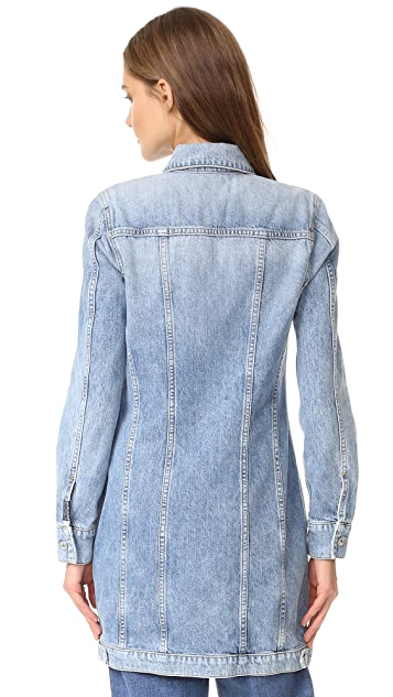 7 For All Mankind Long Trucker Jacket