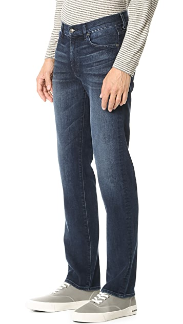7 For All Mankind Slimmy Slim Straight Foolproof Denim Jeans