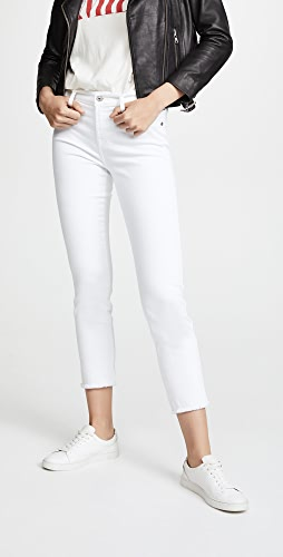7 For All Mankind - Roxanne Ankle Jeans with Raw Hem