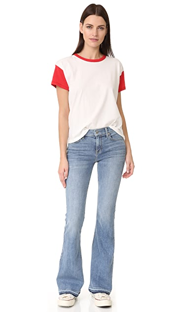7 For All Mankind Ali Flare Jeans with Released Cuffs