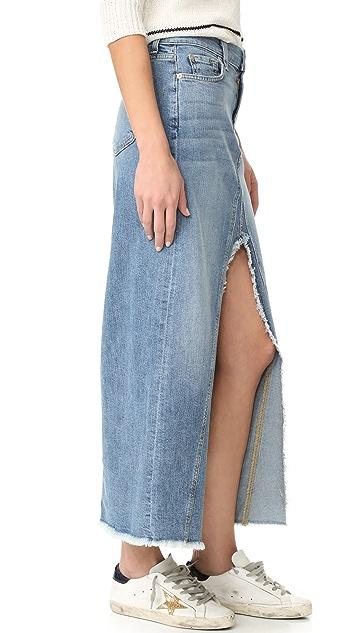 7 For All Mankind Front Slit Skirt