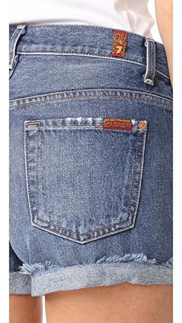 7 For All Mankind Destroyed Shorts
