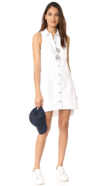 7 For All Mankind Sleeveless Dress with Step Hem
