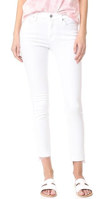 7 For All Mankind Step Hem Skinny Jeans