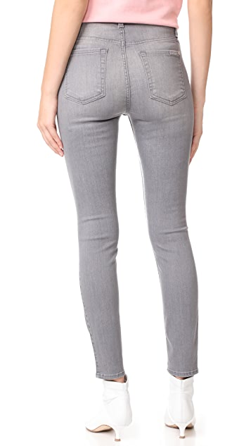 7 For All Mankind B(air) Skinny Jeans with Knee Holes