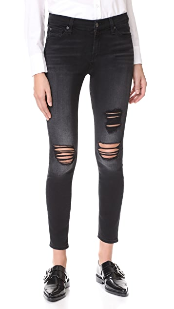 7 For All Mankind The Destroyed Ankle Skinny Jeans