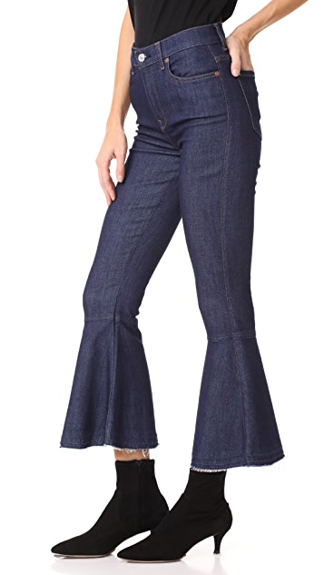 7 For All Mankind Priscilla Flares with Released Hem