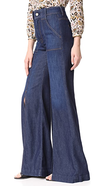 7 For All Mankind Palazzo Pants with Front Slits