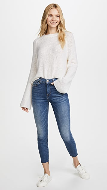 7 For All Mankind Women/'s Highwaist Ankle Skinny Jean W// Step Hem