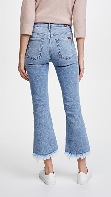7 For All Mankind Cropped Ali Jeans with Frayed Hem