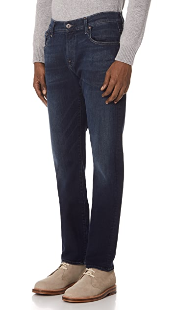 7 For All Mankind Straight Clean Jeans