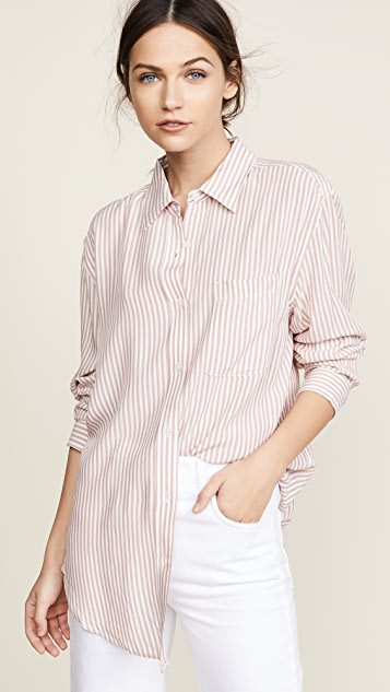 7 For All Mankind Striped Shirt