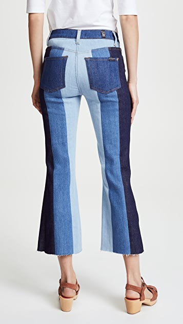 7 For All Mankind Patchwork Cropped Ali Jeans