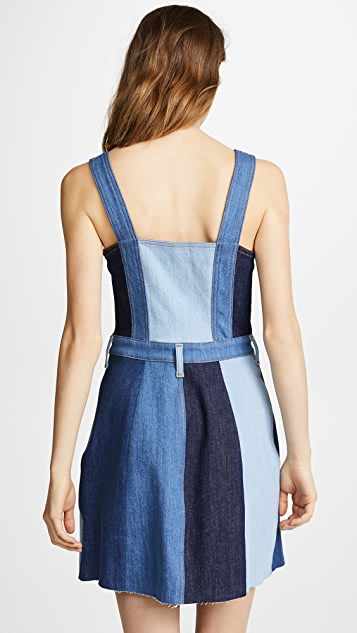 7 For All Mankind Patchwork A-Line Dress