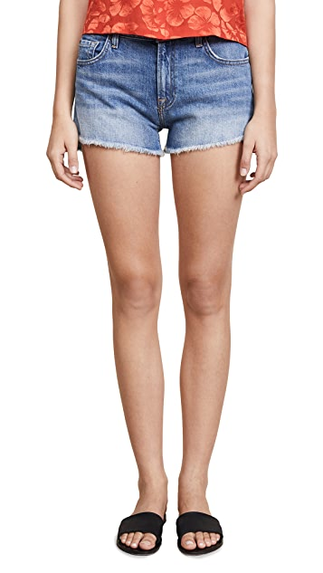 7 For All Mankind Step Hem Cutoffs