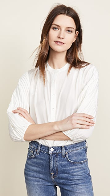 7 For All Mankind Pleated Top