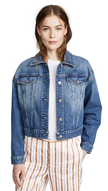 7 For All Mankind Bubble Denim Jacket