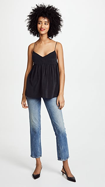 7 For All Mankind Babydoll Silk Camisole